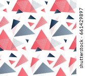 red and grey triangles.... | Shutterstock .eps vector #661429897