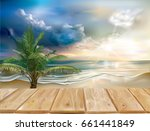 wooden boards on the background ...   Shutterstock .eps vector #661441849