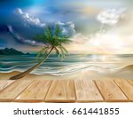 wooden boards on the background ...   Shutterstock .eps vector #661441855