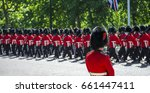 Soldiers In Classic Red Coats...
