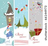 Set Of Cute Christmas Banners