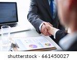 business people shaking hands ... | Shutterstock . vector #661450027