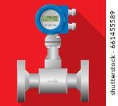 digital flow rate meter... | Shutterstock .eps vector #661455589