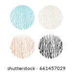 beautiful abstract forest... | Shutterstock .eps vector #661457029