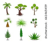 isometric vector trees 3d...   Shutterstock .eps vector #661465459