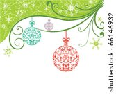 christmas background | Shutterstock .eps vector #66146932