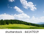 a beautiful mountain view - stock photo