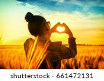 Sunset Countryside Girl Adult...