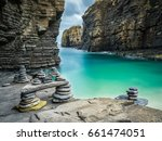 cairns formed from stacks of... | Shutterstock . vector #661474051
