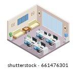 modern isometric employee... | Shutterstock .eps vector #661476301