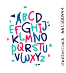 hand drawn vector alphabet.... | Shutterstock .eps vector #661500994