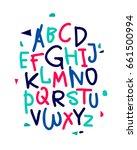 hand drawn vector alphabet.... | Shutterstock .eps vector #661500994
