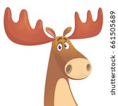 cool carton moose. vector... | Shutterstock .eps vector #661505689