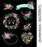 set of cute vintage elements as ... | Shutterstock .eps vector #661508671