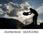 post harvest natural working | Shutterstock . vector #661511461