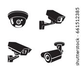 security cameras flat icons set ... | Shutterstock .eps vector #661512385
