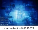 2d rendering stock market... | Shutterstock . vector #661515691