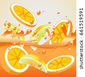 orange splash | Shutterstock .eps vector #661519591