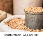 Soy Bean In Gray Tin Can And...