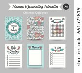 christmas printable journaling... | Shutterstock . vector #661522819