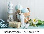 bath bomb  soap and decorative... | Shutterstock . vector #661524775