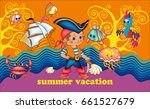 cute pirate. vector illustration | Shutterstock .eps vector #661527679