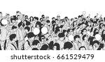 illustration of peaceful asian... | Shutterstock .eps vector #661529479