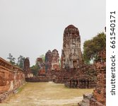 ayutthaya temple ruins ... | Shutterstock . vector #661540171