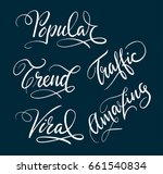 popular and trend hand written... | Shutterstock .eps vector #661540834