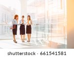 full length of businesswomen... | Shutterstock . vector #661541581