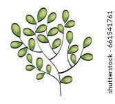 leafs plant decorative icon | Shutterstock .eps vector #661541761