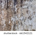 gloomy grey wall with mold  ... | Shutterstock . vector #661542121