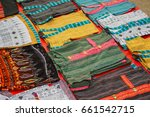 laos   clothing market. colored ... | Shutterstock . vector #661542715