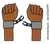 hand human with handcuff | Shutterstock .eps vector #661546399