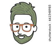 young man head avatar character | Shutterstock .eps vector #661548985