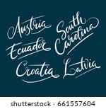 austria and south carolina hand ... | Shutterstock .eps vector #661557604