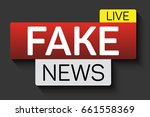 fake news banner with shadow on ... | Shutterstock .eps vector #661558369
