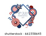 4th of july  usa independence... | Shutterstock .eps vector #661558645