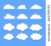 different cloud set on blue... | Shutterstock .eps vector #661559191