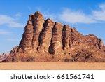 seven pillars of wisdom on wadi ... | Shutterstock . vector #661561741