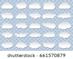 detailed cloud icons on blue... | Shutterstock .eps vector #661570879