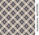 boho flower pattern | Shutterstock .eps vector #661570981
