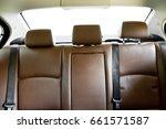 brown leather back passenger...   Shutterstock . vector #661571587