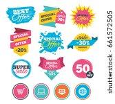 sale banners  online web... | Shutterstock .eps vector #661572505