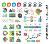 business charts. growth graph.... | Shutterstock .eps vector #661573555