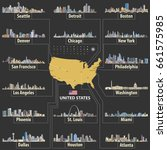 vector map of united states of... | Shutterstock .eps vector #661575985