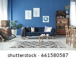 living room view in stylish... | Shutterstock . vector #661580587