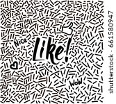 line art hand drawn doodle with ... | Shutterstock .eps vector #661580947