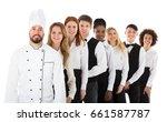 portrait of happy restaurant... | Shutterstock . vector #661587787