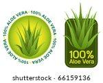 100% Aloe Vera Seals in vectors - stock vector